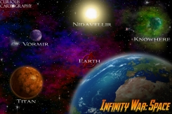 Marvel Avengers Infinity War Space Map